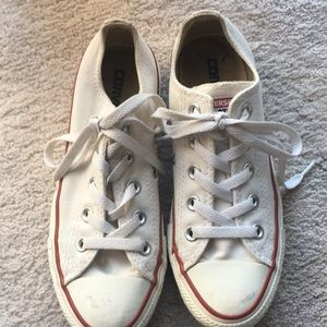 Converse Chuck Taylor All Star white sneakers.